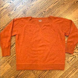 J crew cashmere burnt orange sweater size small